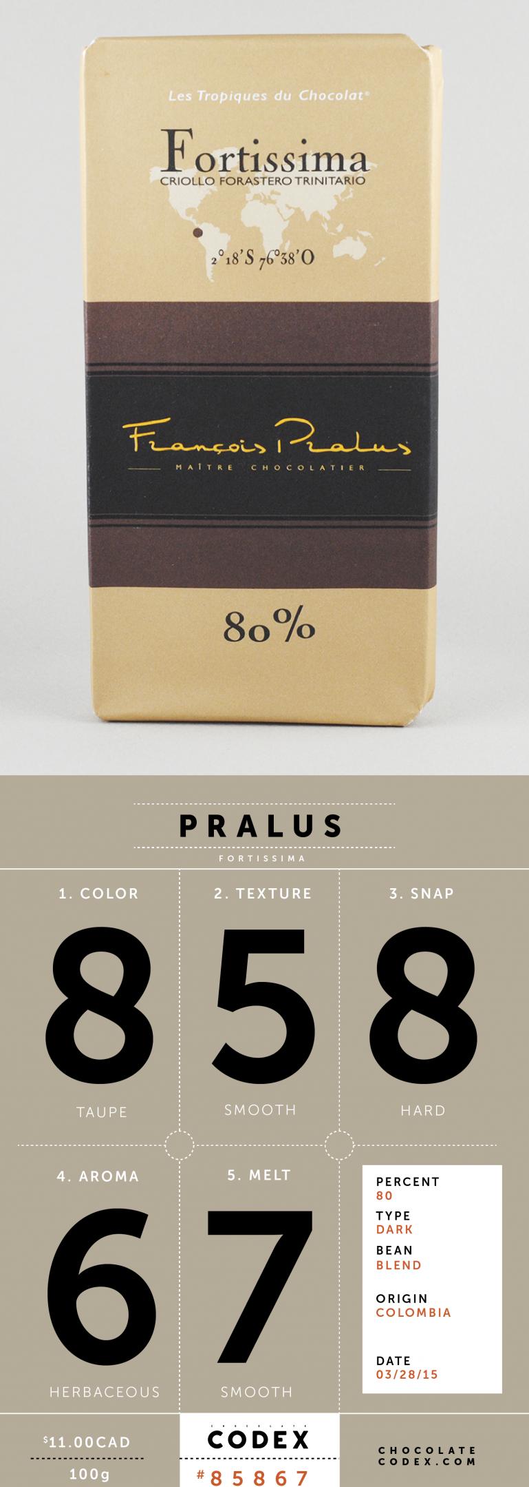 Chocolate-Codex-Reviews-Pralus-Fortissima-80
