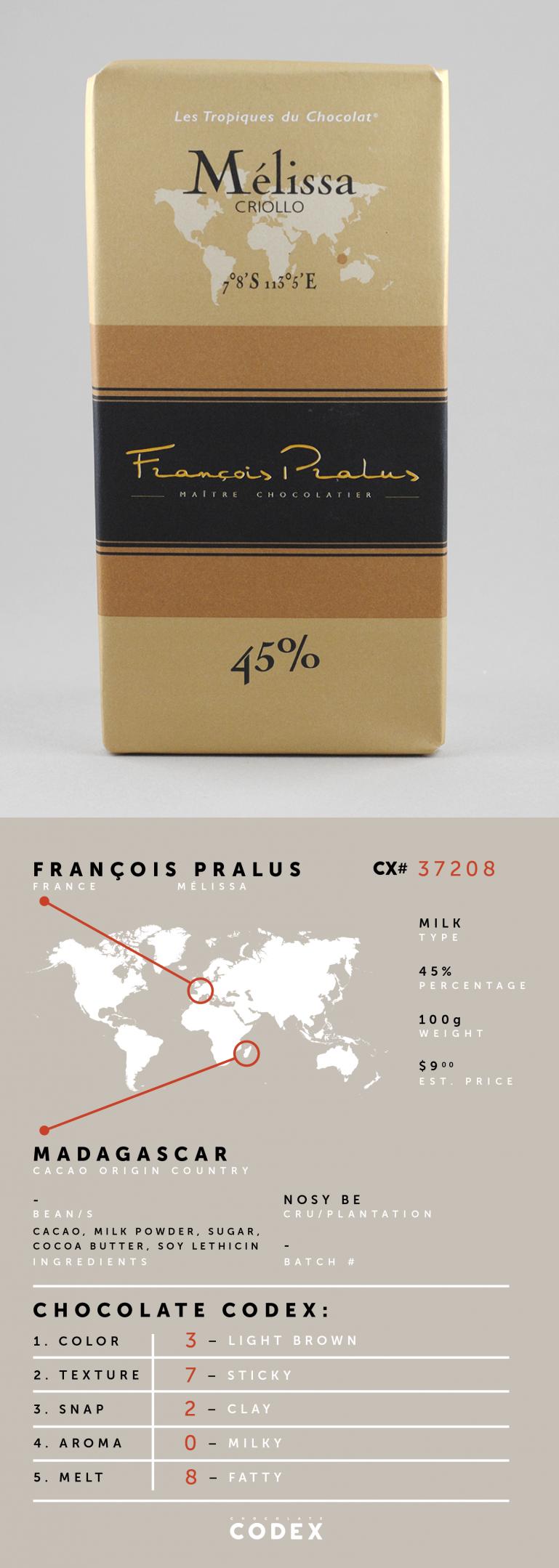ChocolateCodex_Pralus_Melissa_Madagascar_45%